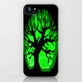 Happy HaLLoween Brain Tree : Green & Black iPhone Case