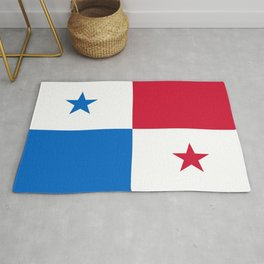 flag of panama-Panama,Panamanian,canal,spanish,San Miguelito,Tocumen,latine,central america,panameno Rug