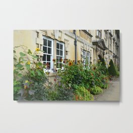 Flower Gardens at Christ College Metal Print