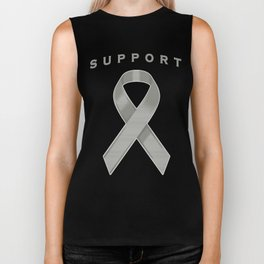 Gray Awareness Ribbon Biker Tank