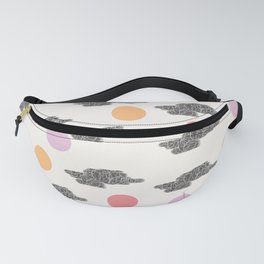 Black Clouds and Colour Dots Fanny Pack
