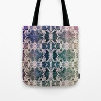 lace Tote Bags featuring Lace by Truly Juel