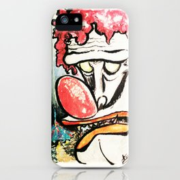 Evil Clown's invite to the Creepy Circus iPhone Case