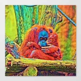 AnimalColor_OrangUtan_018_by_JAMColors Canvas Print