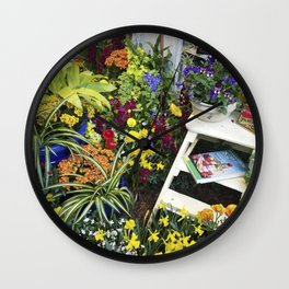 Always good to have a few flowers around the kitchen! Wall Clock
