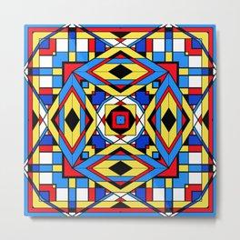The Color Cubes - Multi 2 Blue Metal Print