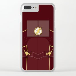 Superheroes phone | The Flash #3 version Clear iPhone Case