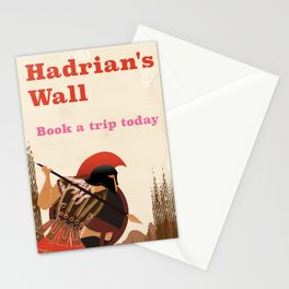 """Hadrian's Wall """"book a trip today"""" Stationery Cards"""
