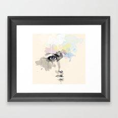 Beyond Her Tears  Framed Art Print