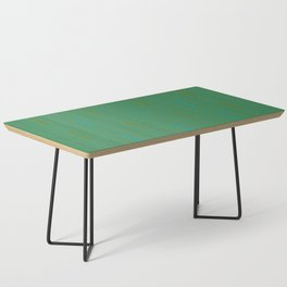 Doors & corners op art pattern in olive green and aqua blue Coffee Table