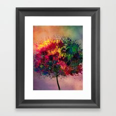 Love in Fall Framed Art Print