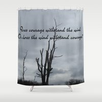 courage Shower Curtains featuring Courage by Wired Circuit