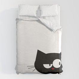Q the Cat Duvet Cover