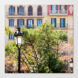 Spring time in Barcelona Canvas Print