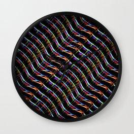 Blazing Neon Worm Line Dance I Wall Clock