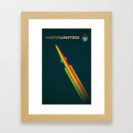 MarsUnited Rainbow Rocket Framed Art Print