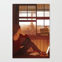 enjolras Canvas Prints featuring Enjolras by rdjpwns
