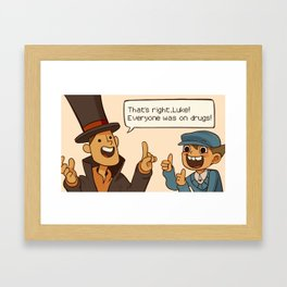 Professor Layton and the Diabolical box Framed Art Print