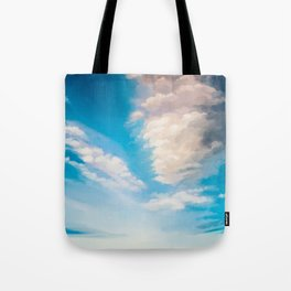 cloudy evening sky study Tote Bag