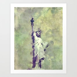 Textured Statue of Liberty Art Print