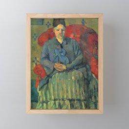 Paul Cezanne - Madame Cezanne in a Red Armchair Framed Mini Art Print