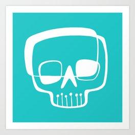 Mid-Mod Skull Art Print