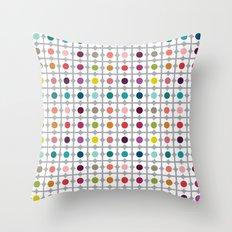 Dot Floral Throw Pillow