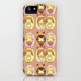 quirky seasons pattern iPhone Case