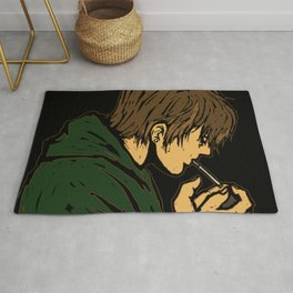 Smoking young man Rug