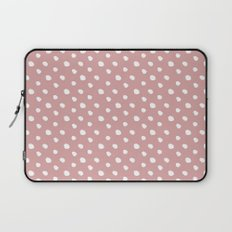 Mauve polka dots pattern - classy college student collection Laptop Sleeve