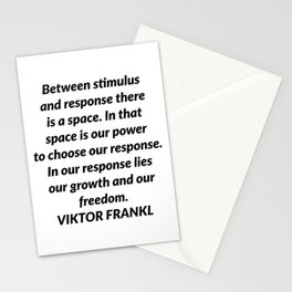 Between stimulus and response Stationery Cards