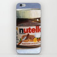 nutella iPhone & iPod Skins featuring Nutella Oil Painting by The GRYLLUS