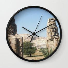 The Clossi of memnon at Luxor, Egypt, 1 Wall Clock