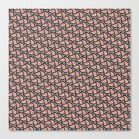 pantone Canvas Prints featuring Pantone Pebbles by LLMD