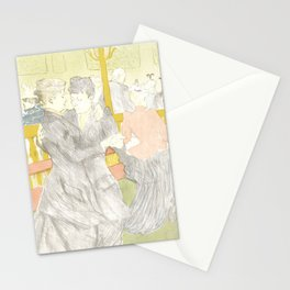 "Henri de Toulouse-Lautrec ""Two Woman Dancing"" Stationery Cards"