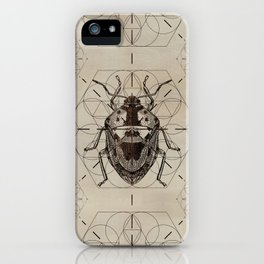 Sacred Geometry Soldier Bug iPhone Case