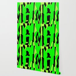 Modern Lime Green Abstract Wallpaper