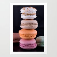 macaroons Art Prints featuring Macaroons  by Michael Moriarty Photography