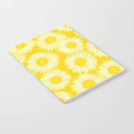 Yellow Sunflowers / Floral Pattern Notebook