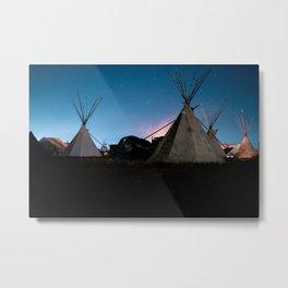 Standing rock at night Metal Print