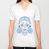 rare V-neck T-shirts featuring A Rare Girl by Ukko