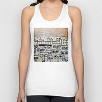 the neighbourhood Tank Tops featuring Crowded neighbourhood by Kaelyn Saunders