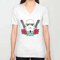 stormtrooper V-neck T-shirts featuring Stormtrooper by Larissa