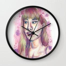 Pink Glow Wall Clock