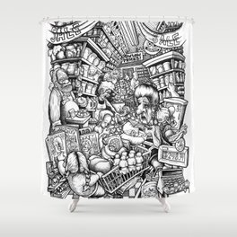 GROCER Shower Curtain