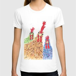 Chicken Run, chicken, rooster, hen T-shirt