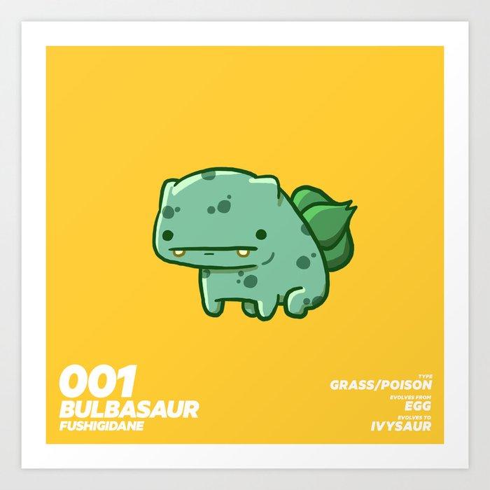 001 Bulbasaur Art Print By Stacyjameseyles Society6