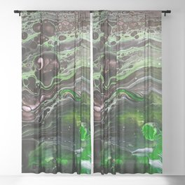 Abstract Planet Sheer Curtain