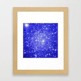 Royal Blue GAlAXY Stars Framed Art Print