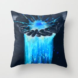 SLIPPING THROUGH (CHARITY Inversed) Throw Pillow